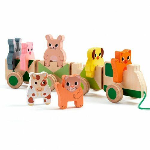 tren granja de madera djeco